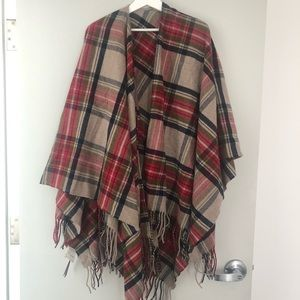 One size plaid shawl from Pendleton